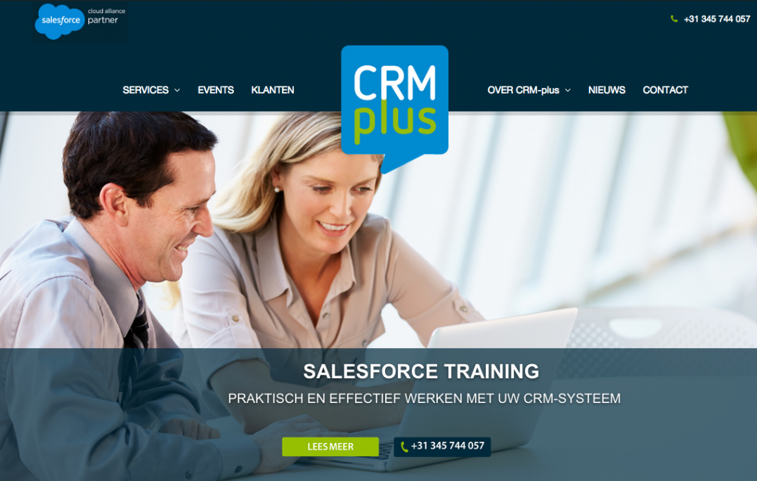 CRM-plus website