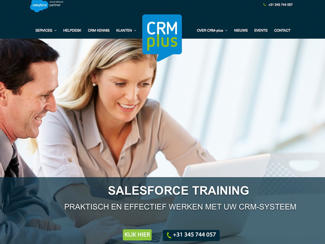 Nieuwe website CRM-plus